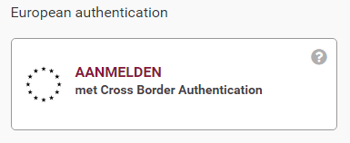 Aanmelden met cross border authentication